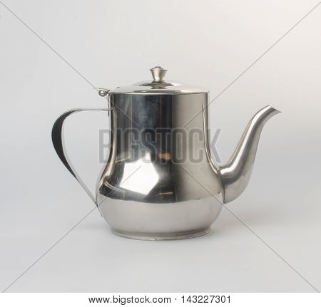Tea Pots Or Stainless Steel Tea Pots On The Background.