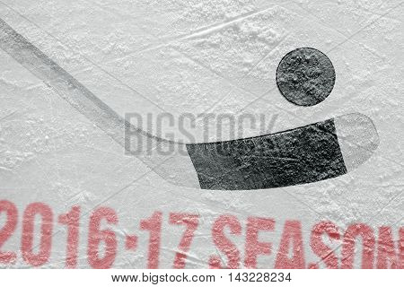 Accessories Hockey on ice. Concept sport season
