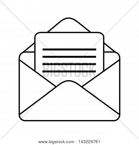 mail envelope post postal correspondence letter post newsletter vector illustration