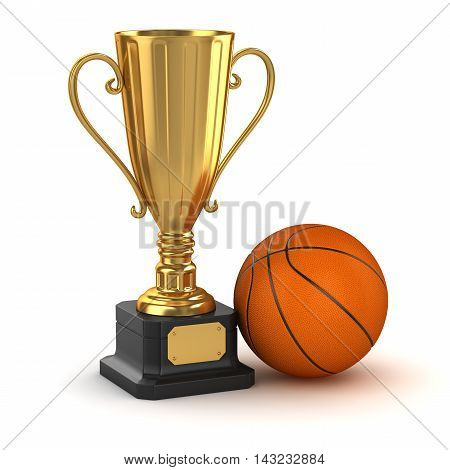 Golden Cup And Basketball