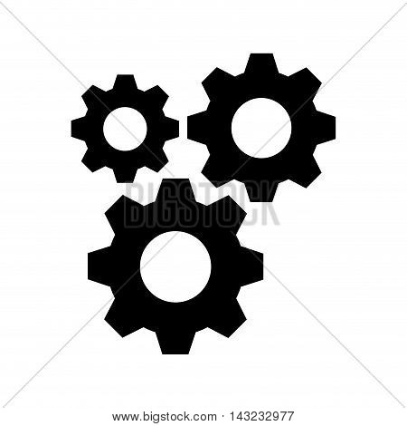 gears cogwheel mechanism mechanical industry equipment vector illustration
