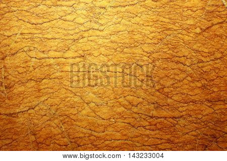 Gold Mulberry paper for background or abstract