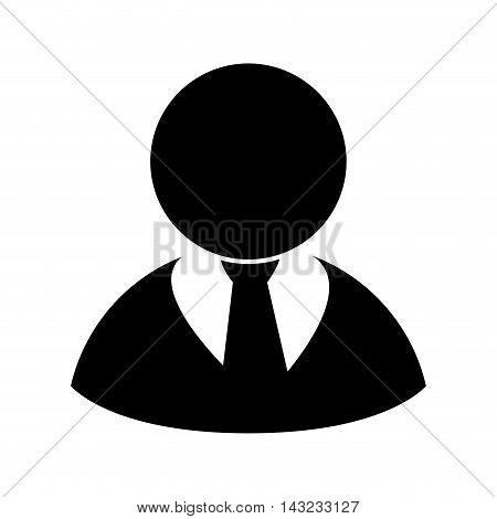 executive business businessperson man suit silhouette tie vector illustrator