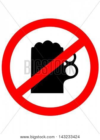 Prohibition sign icon. No drink beer. Vector illustration