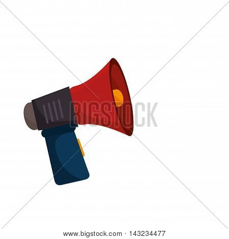 megaphone speak device loud announcement broadcast symbol vector illustration