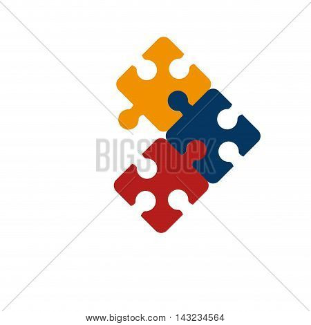 puzzle piece game match challenge connect vector illustration