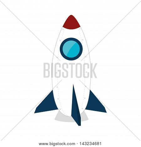 rocket space vehicle astronomy astronaut fly silhouette vector illustration
