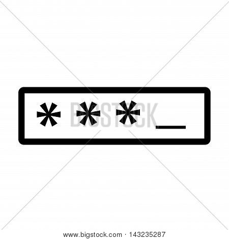 password asterisks login data code safety user protection security  vector illustration