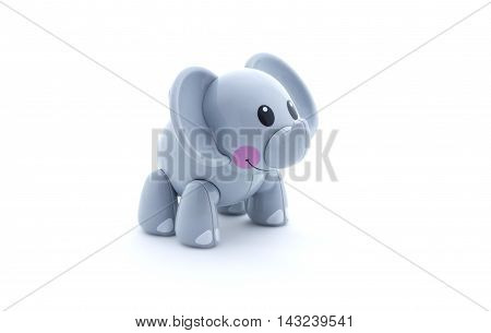 Toy Elephant On A White Background