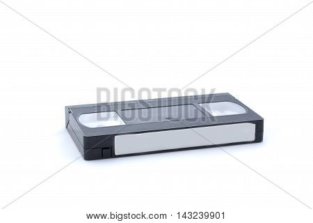 Videocassette On White Background, Isolated