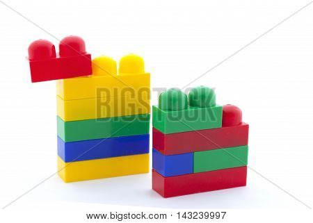 Toy Constructor On White Background, Isolated
