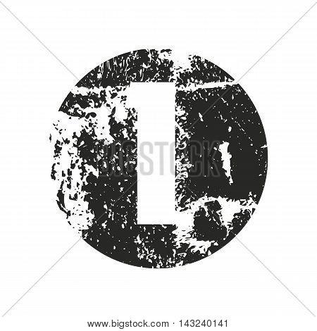 Set of grunge numbers. Distressed vector illustration.