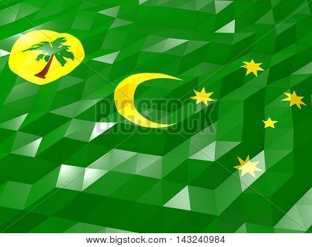 Flag Of Cocos Islands 3D Wallpaper Illustration