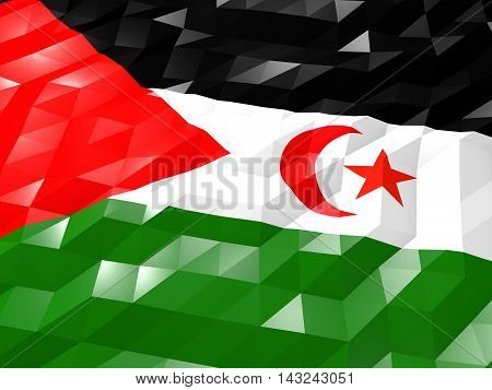 Flag Of Western Sahara 3D Wallpaper Illustration
