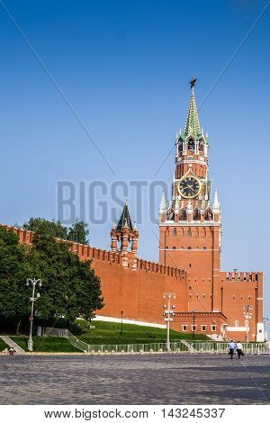 View of the Moscow Kremlin, Red Square in Moscow, Russia