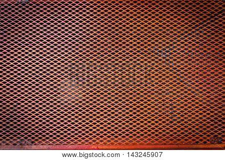 Orange Steel Metal Mash Texture Background