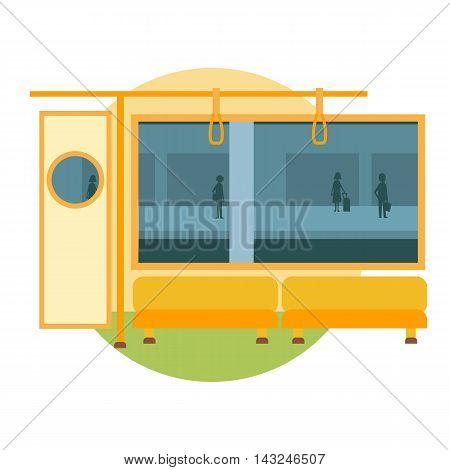 Subway train vector illustration metro railway carriage
