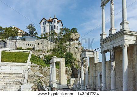 Amazing view of Ancient Roman theatre in Plovdiv, Bulgaria
