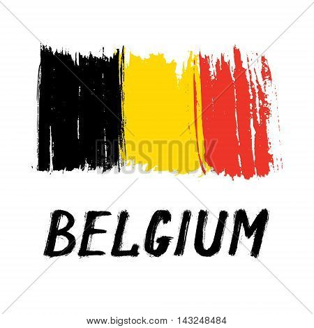 Flag Of Belgium - Color Grunge Icon