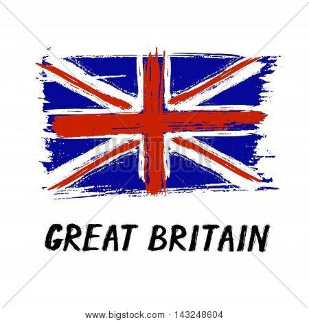 Flag Of Great Britain - Color Grunge Icon