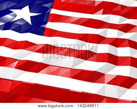 Flag Of Liberia 3D Wallpaper Illustration