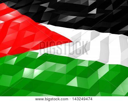 Flag Of Palestine 3D Wallpaper Illustration