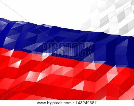 Flag Of Russian Federation 3D Wallpaper Illustration