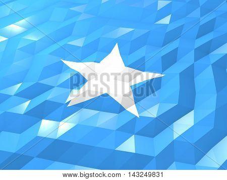 Flag Of Somalia 3D Wallpaper Illustration