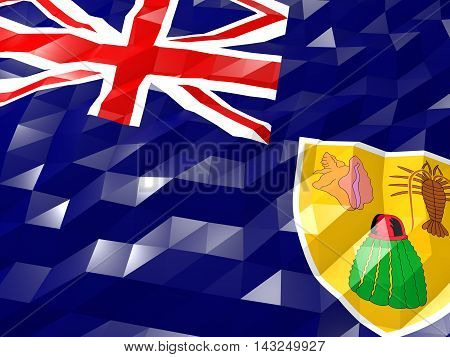 Flag Of Turks And Caicos Islands 3D Wallpaper Illustration