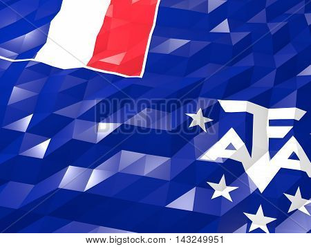 Flag Of French Southern Territories 3D Wallpaper Illustration