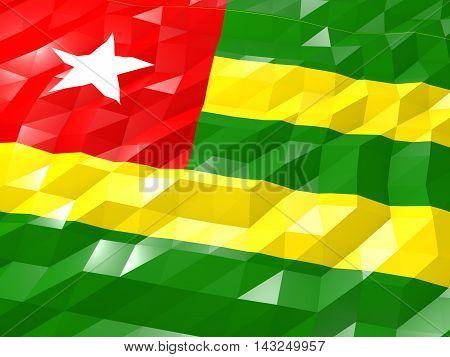 Flag Of Togo 3D Wallpaper Illustration