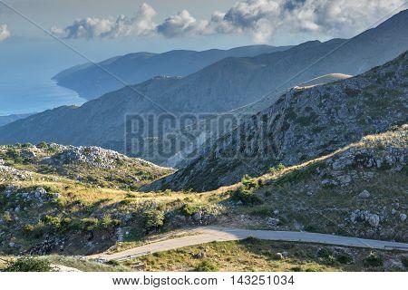 Amazing view of Mountain of Lefkada, Ionian Islands, Greece