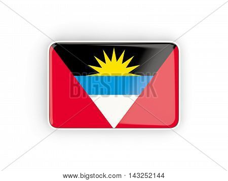 Flag Of Antigua And Barbuda, Rectangular Icon