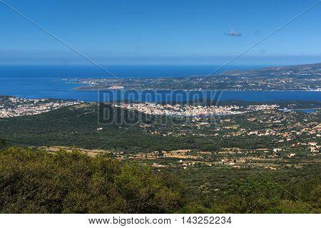 Amazing Panorama of Argostoli town, Kefalonia, Ionian islands, Greece