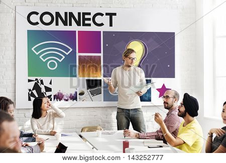 Connect Technology Cyberspace Network Concept