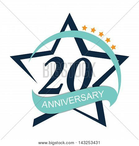 Template Logo 20 Anniversary Vector Illustration EPS10