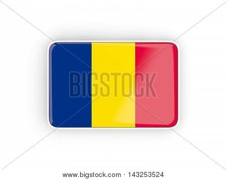 Flag Of Chad, Rectangular Icon