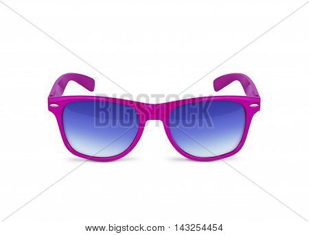 Pink sunglasses isolated over the white background. With clipping path