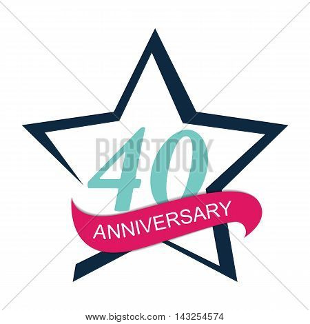 Template Logo 40 Anniversary Vector Illustration EPS10