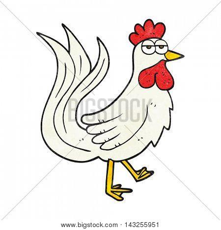 freehand drawn texture cartoon cock