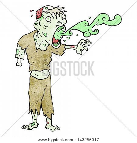 freehand drawn texture cartoon gross zombie
