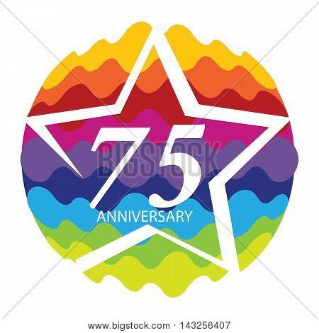 Template Logo 75 Anniversary Vector Illustration EPS10
