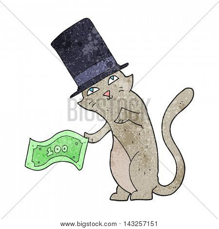freehand drawn texture cartoon rich cat