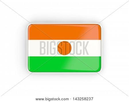 Flag Of Niger, Rectangular Icon