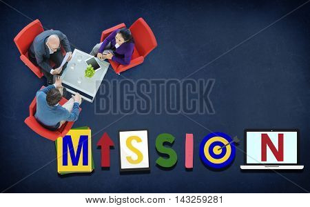 Mission Objective Plan Strategy Target Goals Aspirations Concept