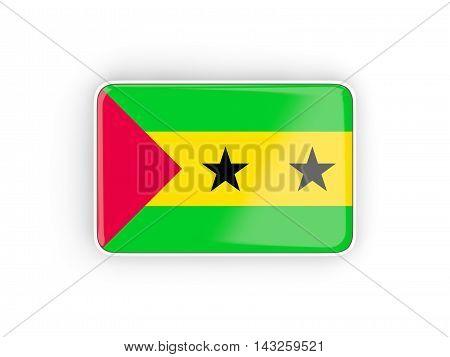 Flag Of Sao Tome And Principe, Rectangular Icon