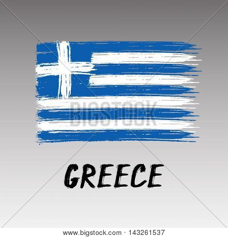 Flag Of Greece - Color Grunge Icon