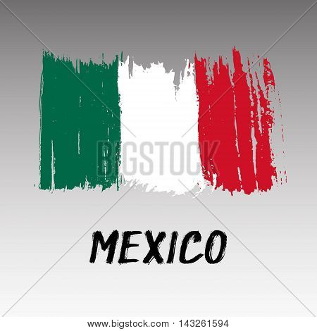 Flag Of Mexico - Color Grunge Icon