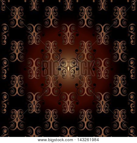 Red dark modern stylish baroque seamless vector pattern background with abstract volumetric damask ornaments.Vintage luxury 3d floral elements with shadow and  highlights.Decorative  design. Rich texture