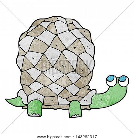 freehand textured cartoon tortoise